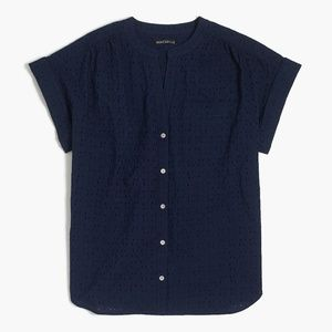 New Women's JCrew Eyelet Shirt/Blouse